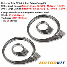 20x Car Adjustable AXLE CV Joint Boot Crimp Clamp Universal Kit Stainless Steel