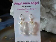 Angels in Angel Aura Quartz Earrings -Guardians-Beings of Light+ Joy!