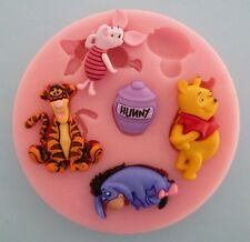 WINNIE THE POOH SILICONE MOULD FOR CAKE TOPPERS, CHOCOLATE, CLAY ETC