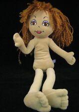 BAB BABW Build a Bear Friends 2B Made Doll Dolly 30P3 Brown Eyes & Hair Stuffed