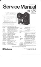 Technics Service Manual für RS- 1700   Vol.1 und 2  Copy