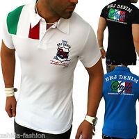 Herren T-Shirt Shirt Sommer Top Qualität Polo Party Clubwear WOW M L XL XXL NEU