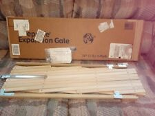 """New listing Gmi Safekeep 36"""" Wood Expansion Gate"""