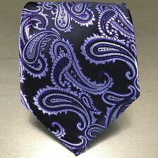 CLEARANCE MEN'S PAISLEY Microfiber SELF TIE NECK TIE FORMAL PARTY WEDDING PROM