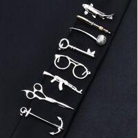 New Men Metal Tie Clip Bar Necktie Pin Clasp Clamp Wedding Charm Creative Gifts