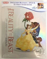 NEW DISNEY BEAUTY AND THE BEAST BLU RAY DVD + DIGITAL TARGET EXCLUSIVE DIGIBOOK