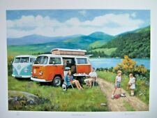 LIMITED EDITION PRINT - VW CAMPERVANS - LIFE ON THE OPEN ROAD - BY KEVIN WALSH