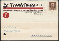 AA6623 La Tessilchimica - Prodotti chimici per filatura - Bergamo 1942