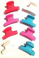 12 x mini in plastica per Capelli Artiglio morsetti Bulldog Clip Grip Style FASHION Accessory