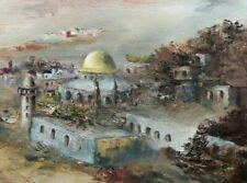 "Original modern oil painting, Orientalist style, titled ""Jerusalem"""