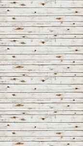 """Ella Bella Photography Backdrop Paper, White Washed Wood, 48"""" x 12', 1 Roll"""