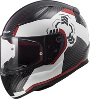 LS2 FF353 RAPID FULL FACE ACU GOLD MOTORCYCLE CRASH HELMET WHITE BLACK RED GHOST