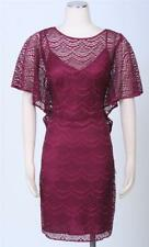 Adrianna Papell Fuschia Dress Size 4 Cocktail Lace Over Sheath Women's New
