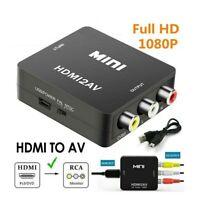 Mini HDMI to RCA AV / CVSB L / R HD 1080p VG A2HDMI + Cable Adapter