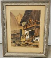 Original Pastel Painting H. RICHTER 20th century German/Austrian landscape scene