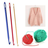 1/3pcs Aluminum Crochet Hook With Hole Knitting Sewing Needle DIY Weaving Craft
