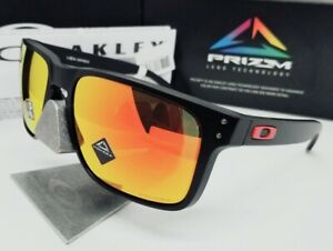 "OAKLEY matte black/ruby ""PRIZM"" HOLBROOK XL OO9417-04 sunglasses! NEW IN BOX!"