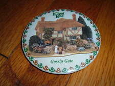 Vintage Lilliput Lane Gossip Gate Vintage Pin Button Cottage Country Home Promo