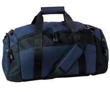 Personalized Duffle Bag Gym Sport Duffel NAVY blue with black trim NEW monogram