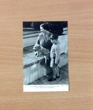 Vintage Tuck's Postcard - HM The Queen Mother With HRH Duke Of Cornwall - 1950's