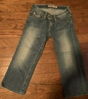 "Big Star ""Casey K low rise Blue Jeans Capris  medium wash size 26 length 20"""