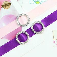 Round Crystal Rhinestone Buckle Invitation Ribbon Slider Wedding Party Supplies