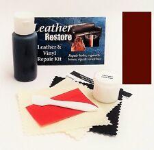 Air Dry Leather & Vinyl Repair Kit DARK MAHOGANY Color Restore Couch Car Jacket