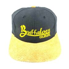 Vintage University of Colorado Buffaloes Strap Back Baseball Dad Cap Suede Brim