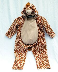 Child Giraffe Costume Sz 2-4 Chrisha Playful Plush Toddler Halloween Jumpsuit