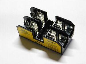 "Bussmann BM6032SQ TRON Fuseblock 2Pole 30A 600V Type M for 13/32"" x 1 1/2"" Fuses"