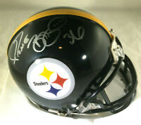 "JEROME BETTIS / NFL HALL OF FAME / AUTOGRAPHED STEELERS MINI HELMET / ""BUS"" HOLO"