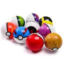 2PCS Pokemon Pokeball Pop-up Sport Timer Park Great Master GS Poke Ball&Figure