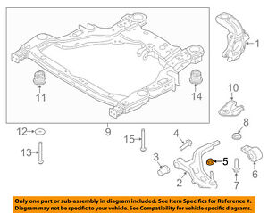 FORD OEM Front Suspension-Lower Control Arm Nut W714890S440
