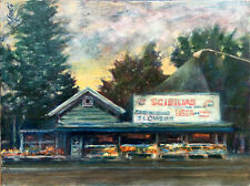 Scibilias Flowers Dewitt, NY 12x16 in. oil on stretched canvas Hall Groat Sr.