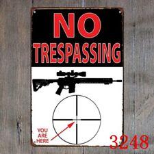 Metal Tin Sign warning sign weapon guns Decor Bar Pub Home Vintage Retro Poster