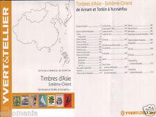 CATALOGO YVERT & TELLIER SELLOS DE ASIA - EXTREMO ORIENTE . 2015 . CHINA JAPON