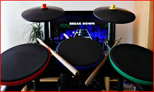 XBOX 360 BAND HERO KABELLOSES DRUMS SET + OVP + BAND HERO GAME +WARRIORS OF ROCK