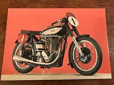 Vintage 1950 500cc Norton Model 30M National Motorcycle Museum Postcard (C)