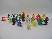 Lot de 28 figurines plastique COWBOY & INDIENS 6cm far west western archer
