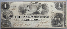 1854 $1 Bank of Washtenaw - Ann Arbor, Michigan Note