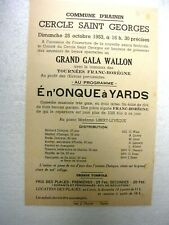 HAININ - Affiche - Cercle Saint Georges - Grand Gala wallon - 1953