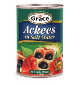 GRACE JAMAICA  ACKEES 19 OZ. VEGETABLE &  LINSTEAD CALLALOO 19 OZ 2 PACK DEAL