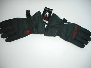 SPYDER Insulated WINTER Snow Sports Black GLOVES MENS Size S/M Small MEDIUM NEW