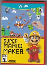 Nintendo Wii U Super Mario Maker (2015) RED Case - Amiibo not included