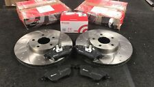 CROSS DRILLED GROOVED BRAKE DISC PADS BREMBO FOR FORD MONDEO MK4 2007