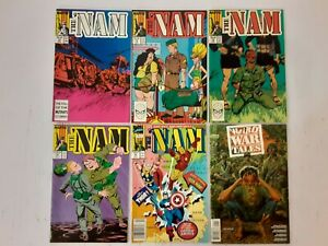 THE NAM COMIC BOOK LOT of 6, Numbers 13, 15, 16, 18, 41 and WEIRD WAR TALES #1