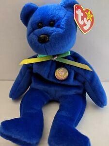 TY Beanie Baby Rare Retired Original Pristine Mint Condition 1998 Clubby Blue