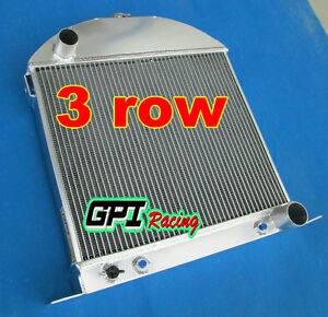 Fit Ford model A chopped w/Chevy engine 1928-1931 1929 Aluminum Radiator Custom
