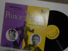 Vtg. Disneyland Records: Prince & the Pauper (Guy Williams) OOP LP Record
