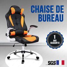 Chaise fauteuil de bureau ideal luxe et confortable banquet réglable PU orange